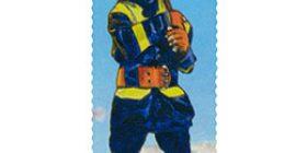 Monikulttuurinen Suomi - Palomies  postimerkki 1 luokka