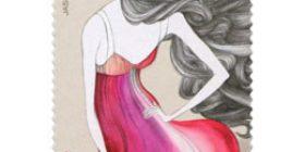 Muotia - Jasmin Santasen juhla-asu  postimerkki 1 luokka