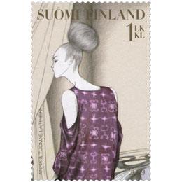 Muotia - Tuomas ja Anna Laitisen asu  postimerkki 1 luokka
