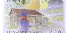 Nuvvuksen postitalo  postimerkki 2 markka