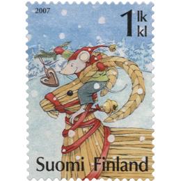 Olkipukki ja hiiri  postimerkki 1 luokka