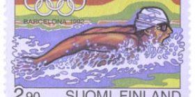 Olympiakisat Barcelonassa 1992  postimerkki 2