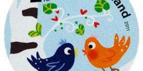 Onnenpuu - Linnut  postimerkki 2 luokka