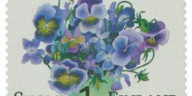 Orvokkikimppu  postimerkki 1 luokka