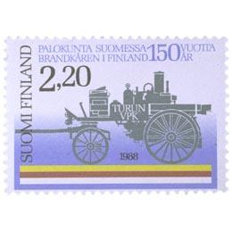 Palokunta Suomessa 150 vuotta  postimerkki 2