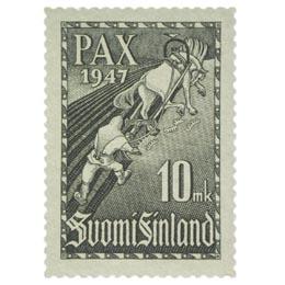 Pariisin rauhansopimus harmaa postimerkki 10 markka