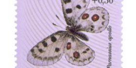 Perhosia - Apolloperhonen  postimerkki 5 markka