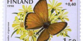 Perhosia - Loistokultasiipi  postimerkki 1