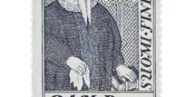 Piispoja - Isac Rothovius harmaansininen postimerkki 2