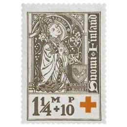 Piispoja - Maunu II Tavast harmaanruskea postimerkki 1