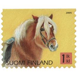 Poneja - Islanninhevonen  postimerkki 1 luokka