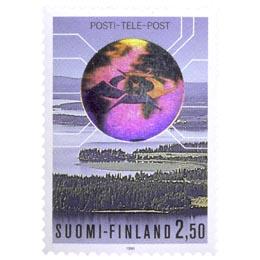 Posti- ja telelaitos liikelaitokseksi  postimerkki 2