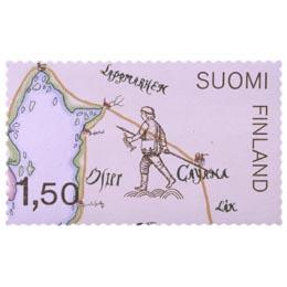 Postikartta 1698  postimerkki 1