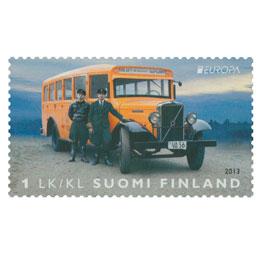 Postin jakeluautot - Volvo LV-70  postimerkki 1 luokka