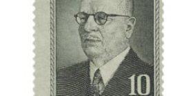 Presidentti J.K. Paasikivi harmaa postimerkki 10 markka