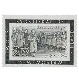 Presidentti Kallion surumerkki musta postimerkki 2