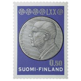 Presidentti Kekkonen 70 vuotta  postimerkki 0