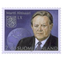 Presidentti Martti Ahtisaari 60 vuotta  postimerkki 2