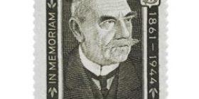 Presidentti P.E. Svinhufvudin surumerkki musta postimerkki 3