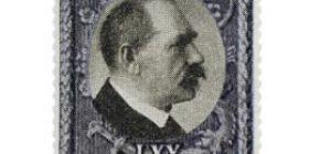 Presidentti Svinhufvud 70 vuotta tummansininen / musta postimerkki 2 markka