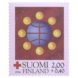 Punainen Risti ja rauha  postimerkki 2 markka