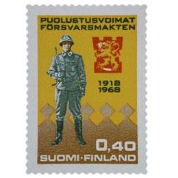 Puolustuslaitos 50 vuotta - Sotilas  postimerkki 0
