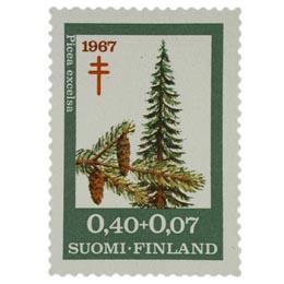 Puulajeja - Kuusi  postimerkki 0