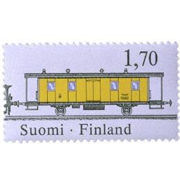 Rautatiepostinkuljetus - Postivaunu 9935  postimerkki 1