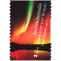Revontulia - Punainen revontuli  postimerkki 1 luokka