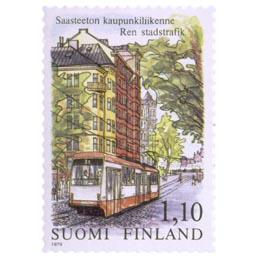 Saasteeton kaupunkiliikenne  postimerkki 1
