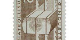 Sahateollisuus 100 vuotta ruskea postimerkki 10 markka
