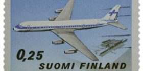 Siviililentoliikenne  postimerkki 0