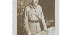 Sotamarsalkka C. G. E. Mannerheim tummanruskea postimerkki 1