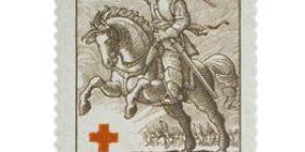 Sotilaita - Hakkapeliitta tummanlilanruskea postimerkki 1