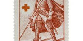 Sotilaita - Karoliini tummankarmiini postimerkki 2 markka