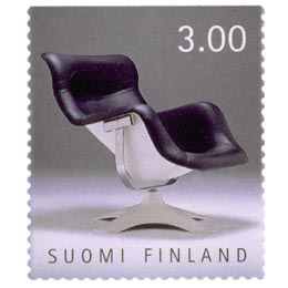 Suomalainen muotoilu - Karuselli-tuoli  postimerkki 3 markka