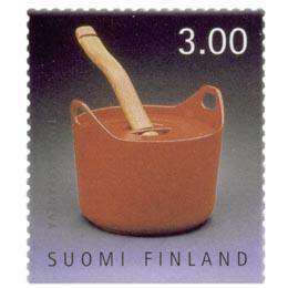 Suomalainen muotoilu - Pata  postimerkki 3 markka