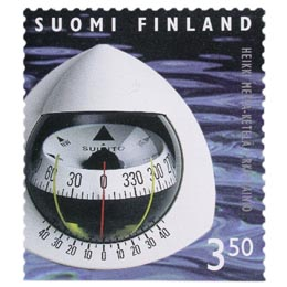Suomalainen muotoilu - Suunto-kompassi  postimerkki 3