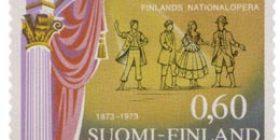 Suomalainen ooppera 100 vuotta  postimerkki 0
