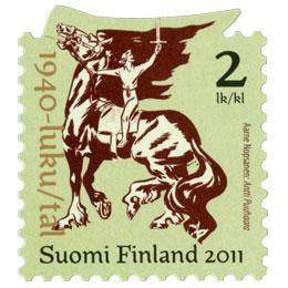 Suomalainen sarjakuva 100 vuotta - Antti Puuhaara  postimerkki 2 luokka
