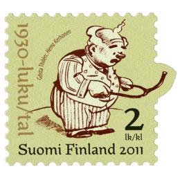 Suomalainen sarjakuva 100 vuotta - Herra Kerhonen  postimerkki 2 luokka