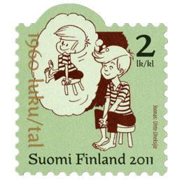 Suomalainen sarjakuva 100 vuotta - Unto Uneksija  postimerkki 2 luokka