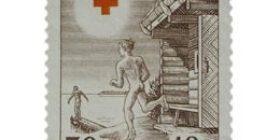 Suomalainen sauna ruskea postimerkki 30 markka