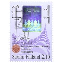 Suomalainen teknologia - Patentit  postimerkki 2