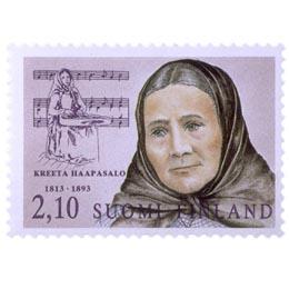 Suomalaisia naisvaikuttajia- Kreeta Haapasalo  postimerkki 2