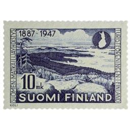 Suomen Matkailijayhdistys 60 vuotta sininen postimerkki 10 markka