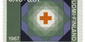 Suomen Punainen Risti 90 vuotta  postimerkki 0