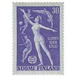Suomen Suurkisat sininen postimerkki 30 markka
