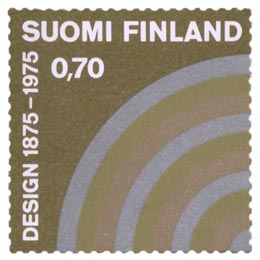 Suomen Taideteollisuusyhdistys 100 vuotta  postimerkki 0