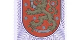 Suomen historiallinen vaakuna  postimerkki 20 markka